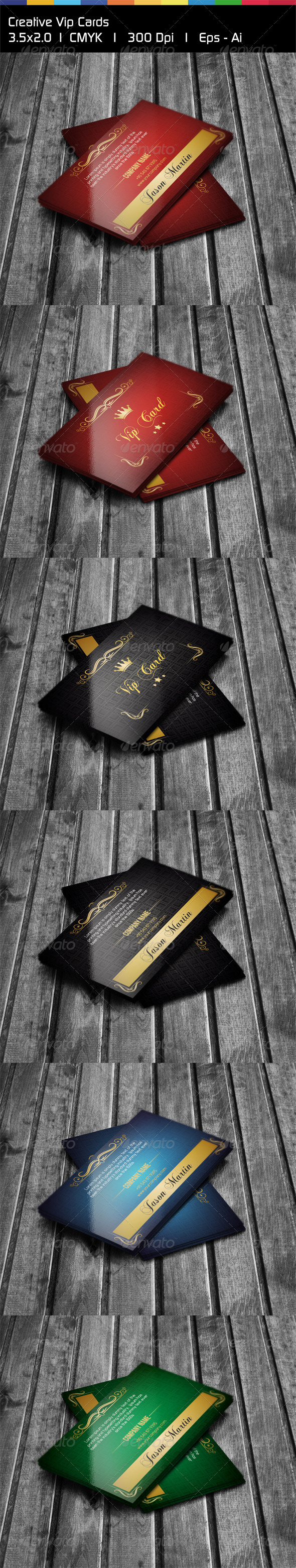 GraphicRiver Creative Vip Cards 5025579