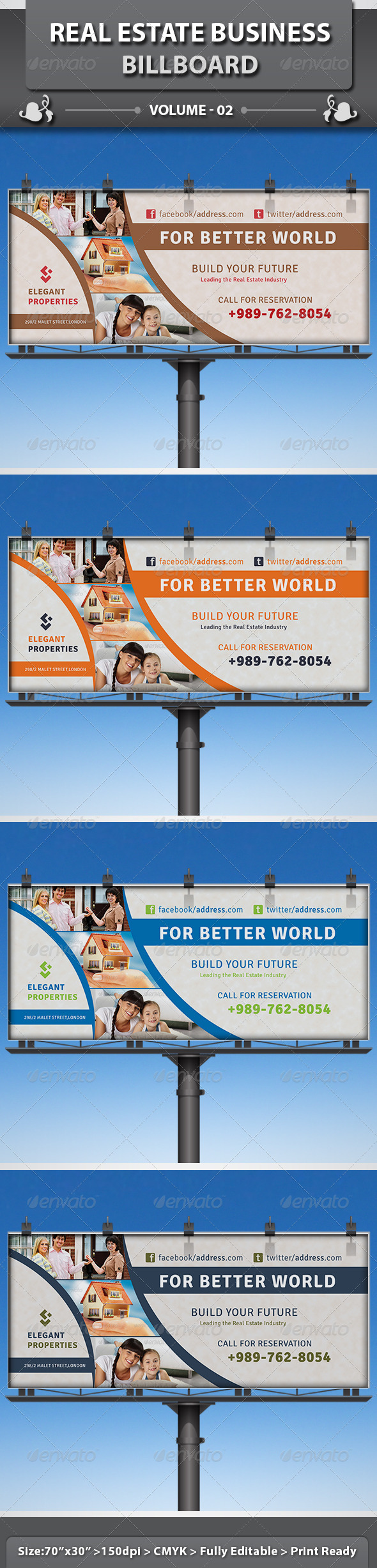 GraphicRiver Real Estate Business Billboard v2 5078732