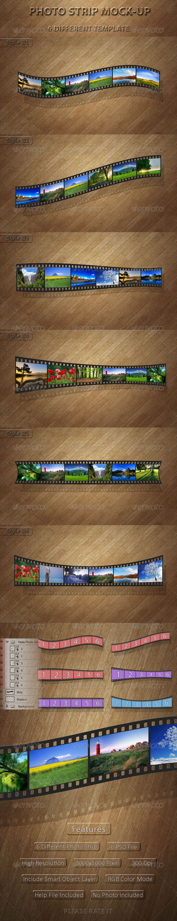 GraphicRiver Photo Strip Mock-Up 4983328