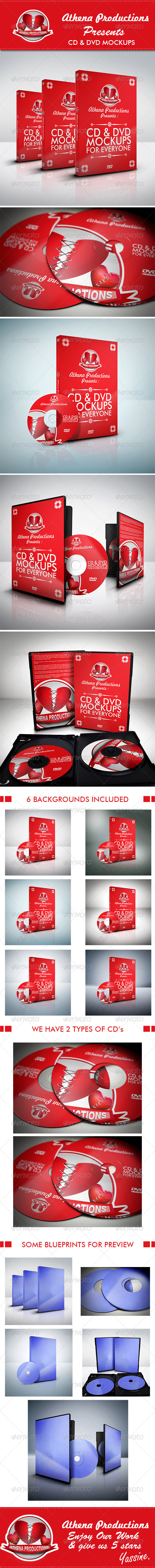 GraphicRiver CD DVD Mockups V.1 5079213