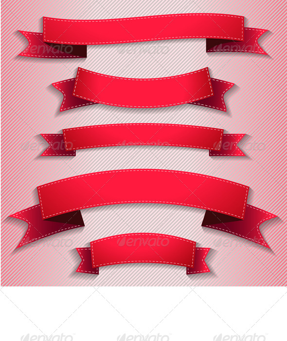 GraphicRiver Red Ribbons 5079289