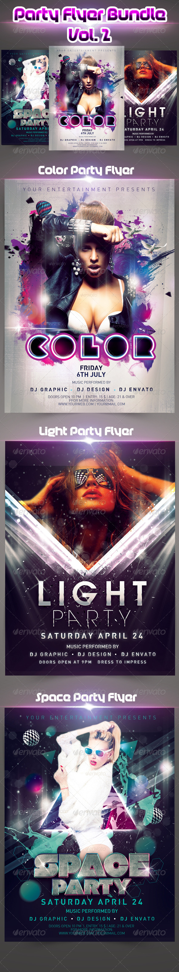 Party Flyer Bundle vol.2 - Events Flyers