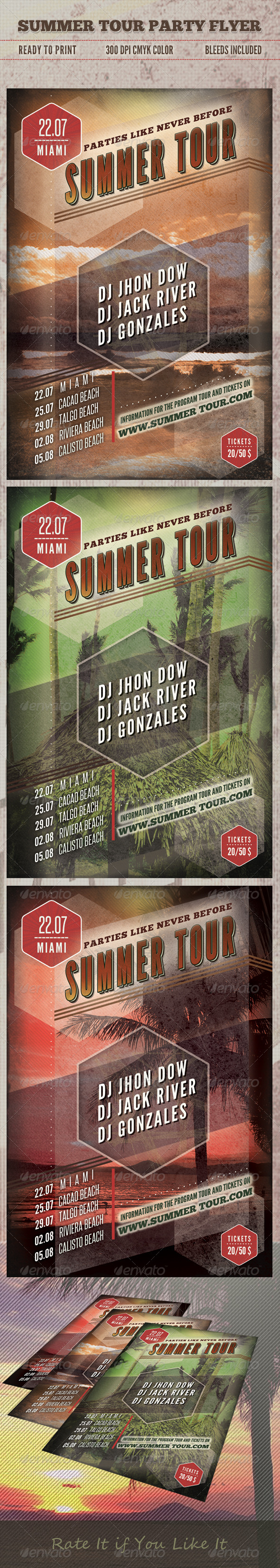 GraphicRiver Summer Tour Party Flyer 5024195