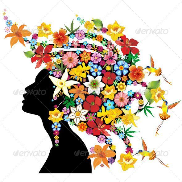GraphicRiver Girl Exotic Portrait with Flowers on Hair 5079819