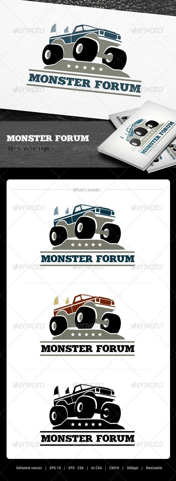 GraphicRiver Monster Truck Logo 5079822