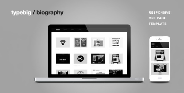 Biography - Responsive One Page Template (Creative)
