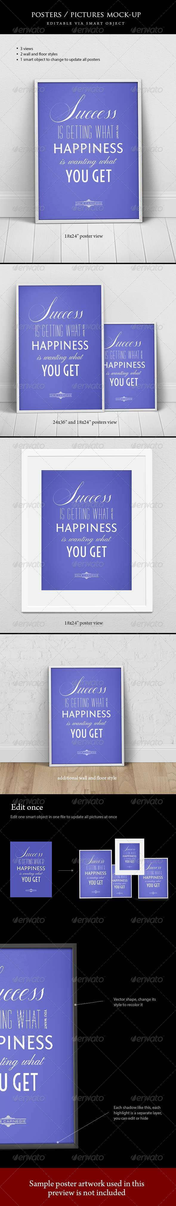 Poster / Picture mock-ups - Posters Print