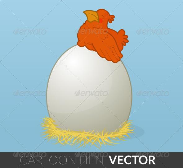 GraphicRiver Cartoon Hen 5080233