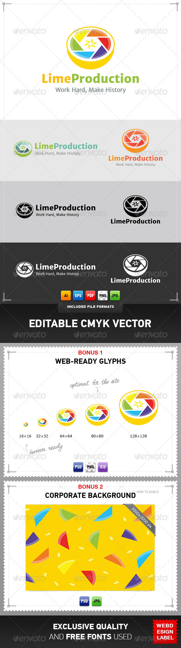 GraphicRiver Lime Production Logo 5080241