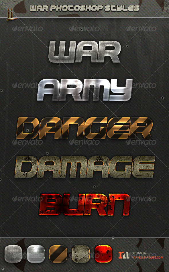 GraphicRiver War Photoshop Styles 5062980