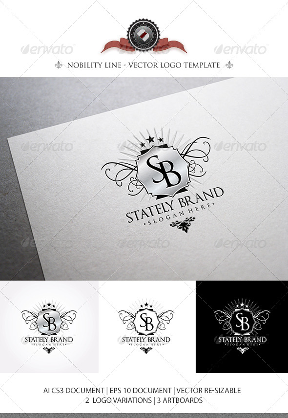 GraphicRiver StatelyBrand Logo Template 5054447