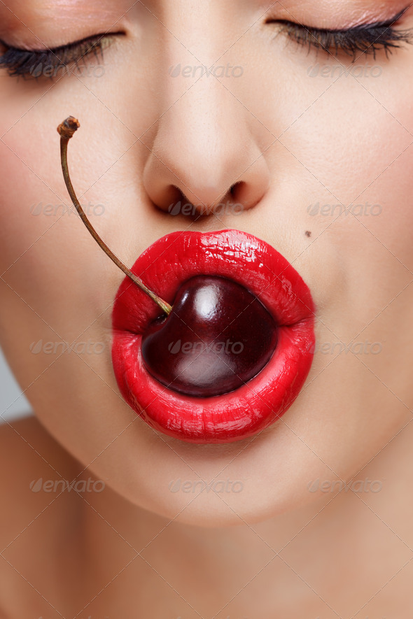 Sexy bite! - Stock Photo - Images