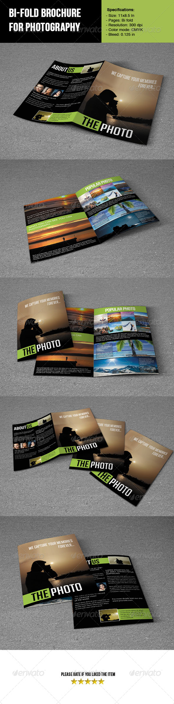 GraphicRiver Bifold Brochure For Photography 5080828