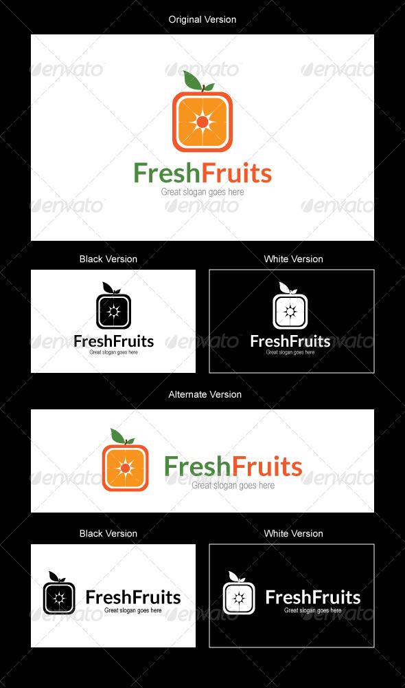 GraphicRiver Fresh Fruits Logo Design 5082217
