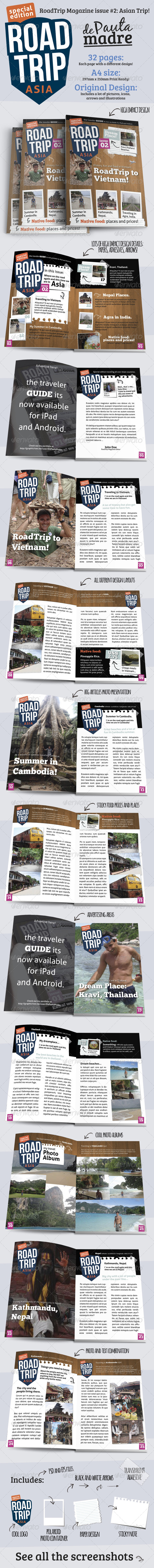 GraphicRiver AsiaTrip Magazine Template Issue #2 for Print 5082410