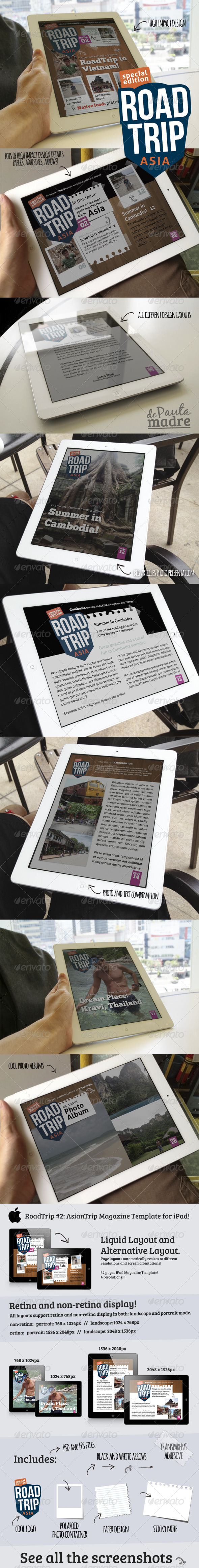 GraphicRiver AsiaTrip Magazine Template Issue #2 for iPad 5082429