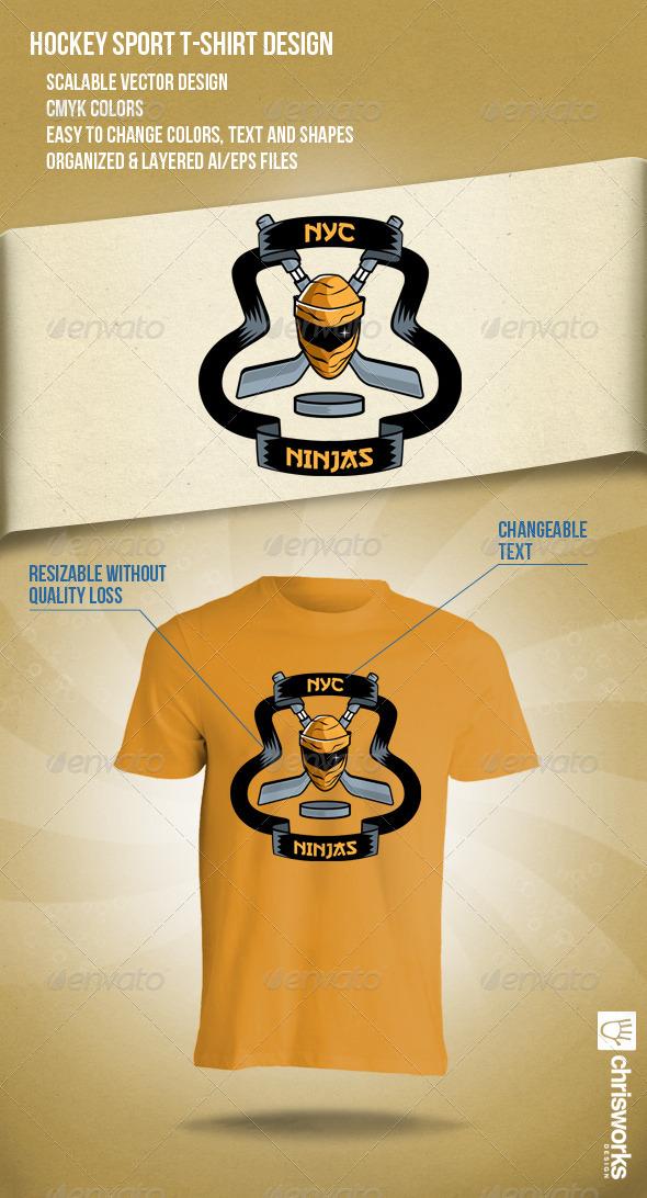 GraphicRiver NYC Ninjas Hockey Team 5072375