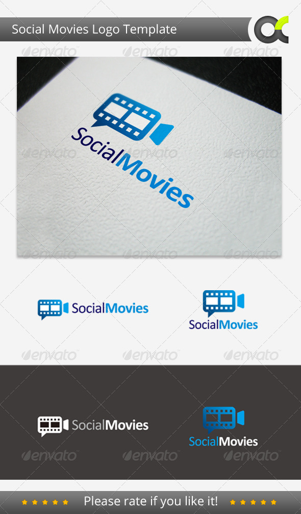Social Movies Logo Template - Objects Logo Templates