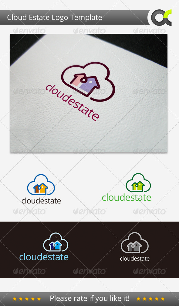 Cloud Estate Logo Template - Objects Logo Templates