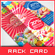 Sweet Candy Shop Rack Card - GraphicRiver Item for Sale