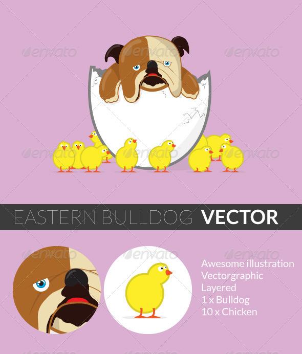 GraphicRiver Easter Bulldog 5082909