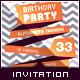 Birthday Retro/Vintage Invitation - Ribbon Message - GraphicRiver Item for Sale