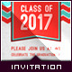 Graduation Announcement - Spirited Heart - GraphicRiver Item for Sale