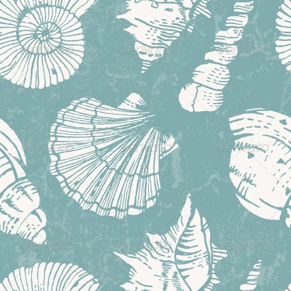 GraphicRiver Pattern with Sea Shells 5083344