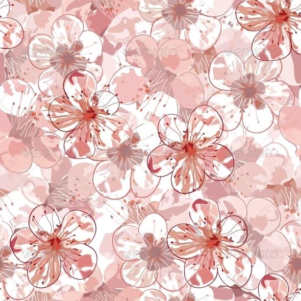 GraphicRiver Sakura Seamless Pattern 5083536
