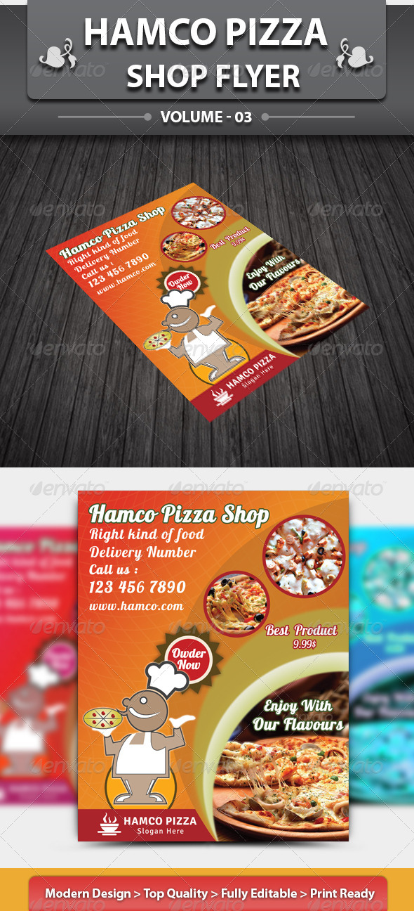 GraphicRiver Hotcafe Shop Flyer 4690293