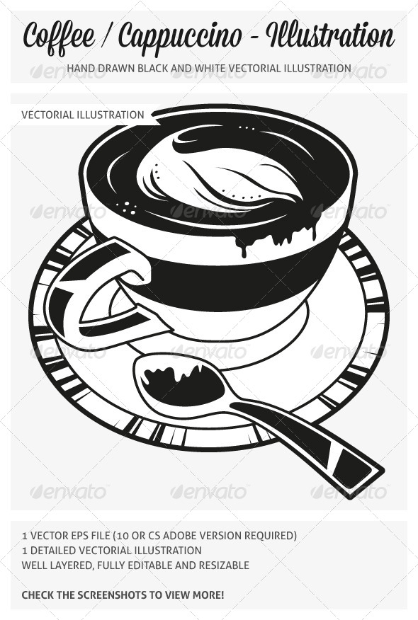 GraphicRiver Hand Drawn Coffee Cappuccino Illustration 5083646