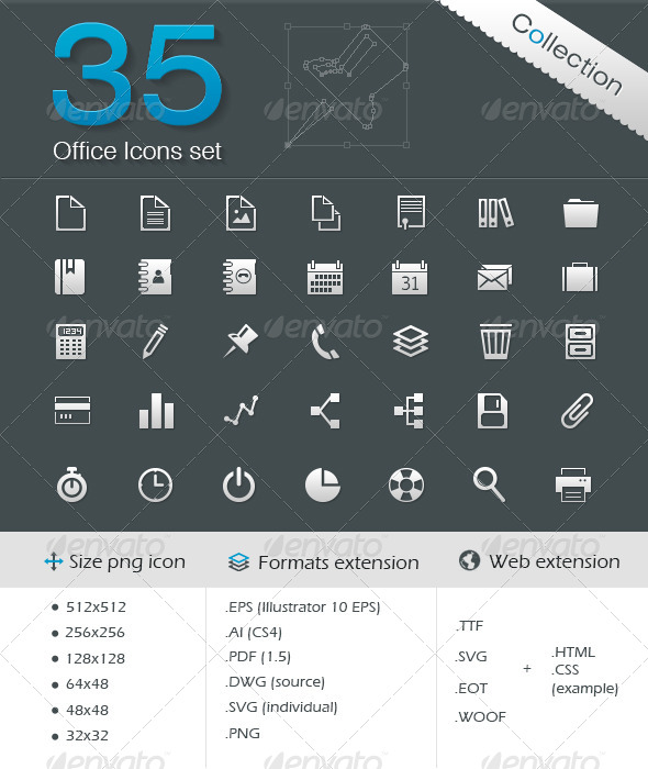 GraphicRiver Office Icons 5083765
