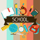 School. Icons, Banners, Cards and Patterns. - GraphicRiver Item for Sale