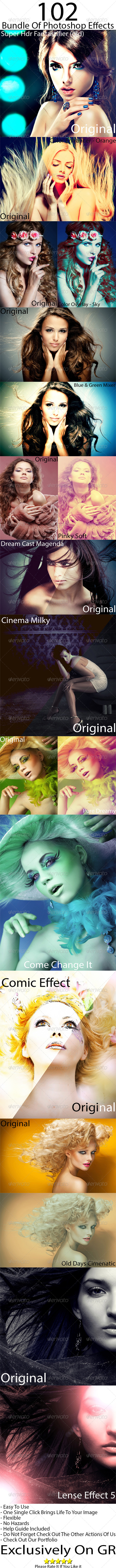 GraphicRiver Photoshop Premium Effects Bundle 5084267