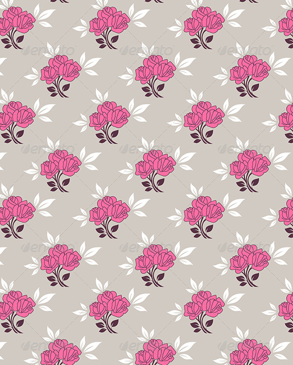 GraphicRiver Seamless Pattern with Roses 5084381