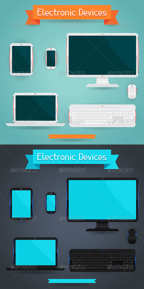 GraphicRiver Computer Laptop Tablet and Phone 5084390