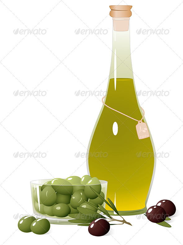 GraphicRiver Bottle with Olive Oil 5084495