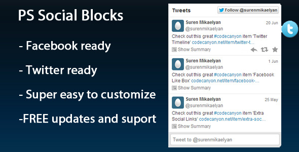 CodeCanyon PS Social Blocks 5084544