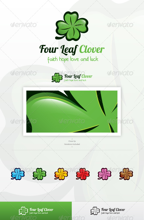 Four Leaf Clover Logo - Nature Logo Templates