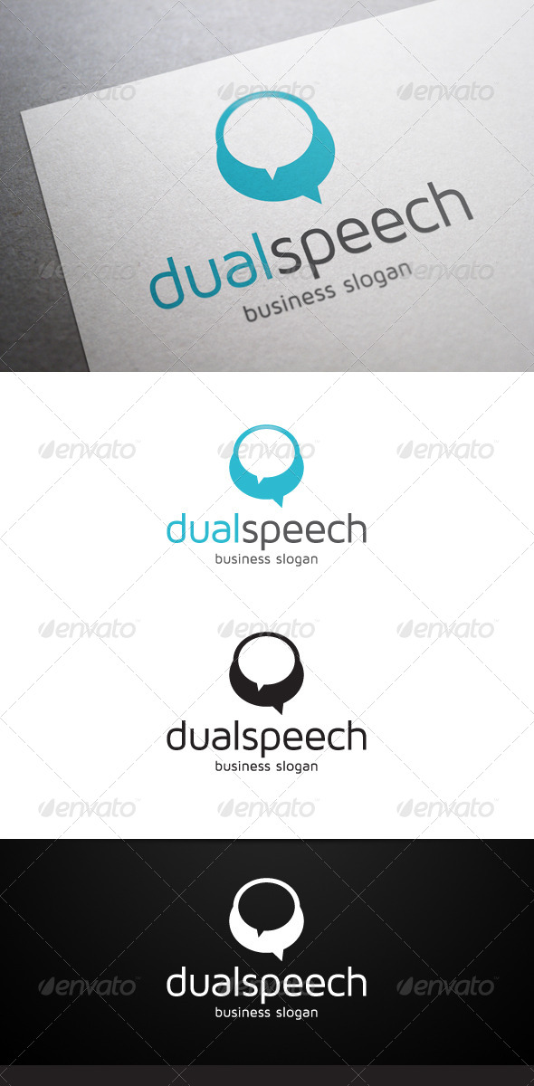 GraphicRiver Dual Speech Logo 5084669
