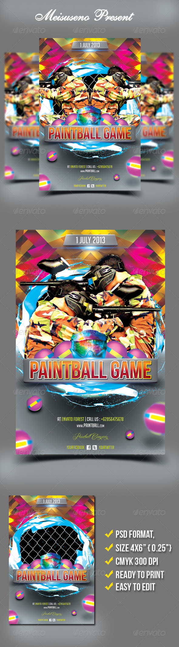 Paintball Game Flyer - Sports Events