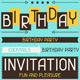 Invitation Cards and Patterns for Birthday. - GraphicRiver Item for Sale