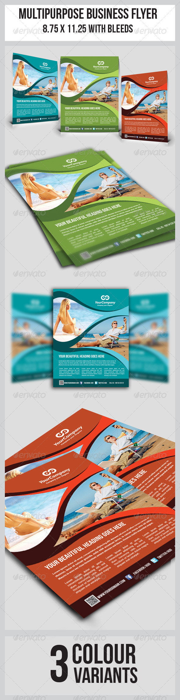 GraphicRiver Tourism Flyer Vol.1 5085140