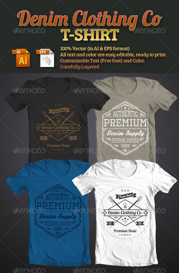 GraphicRiver Denim Clothing Co T-Shirt 5085280