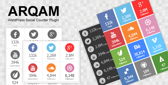 CodeCanyon Arqam Retina Responsive WP Social Counter Plugin 5085289