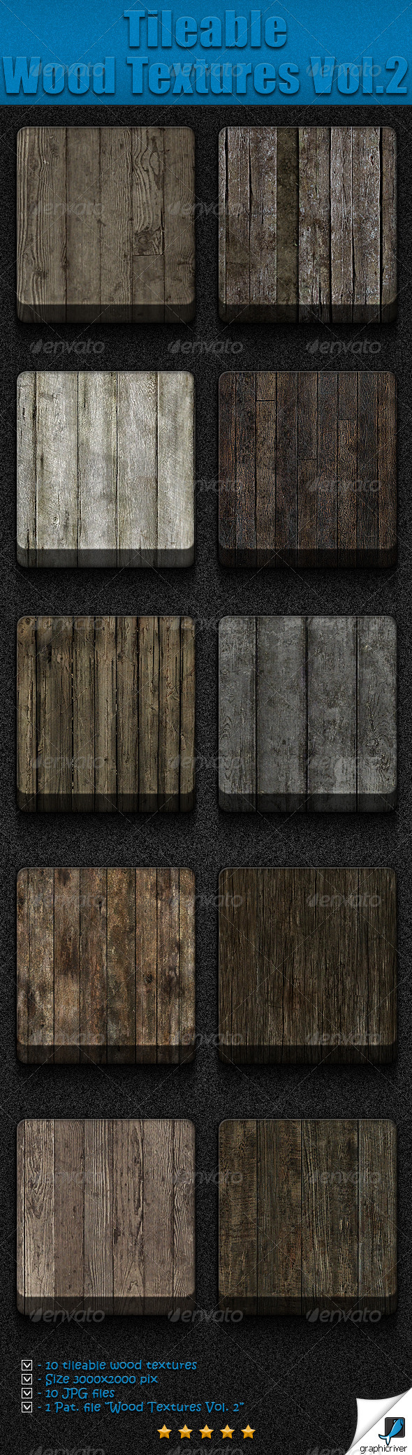 GraphicRiver Tileable Wood Textures Vol 2 5085365