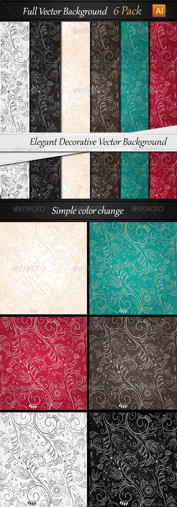 Elegant Background Vector - Backgrounds Decorative