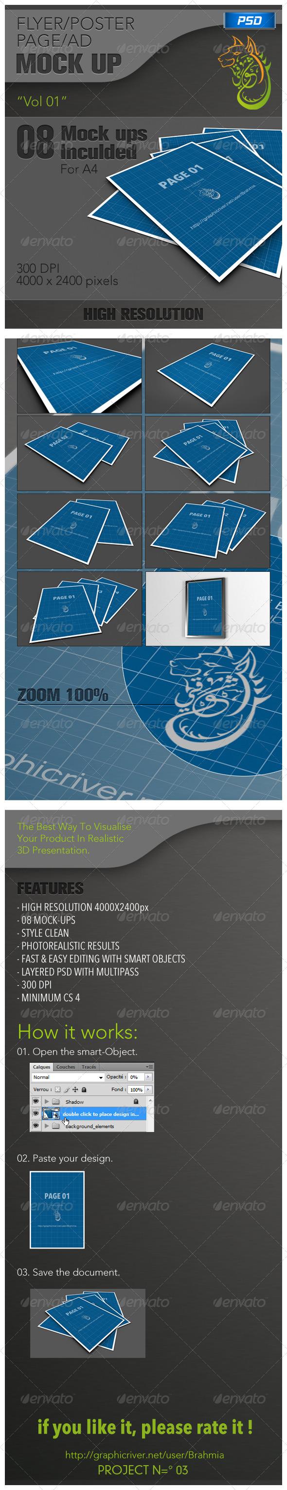 GraphicRiver Flyer Poster Mockups vol 01 5085481