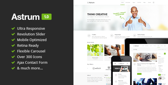Astrum Responsive Multi-Purpose HTML5 Template
