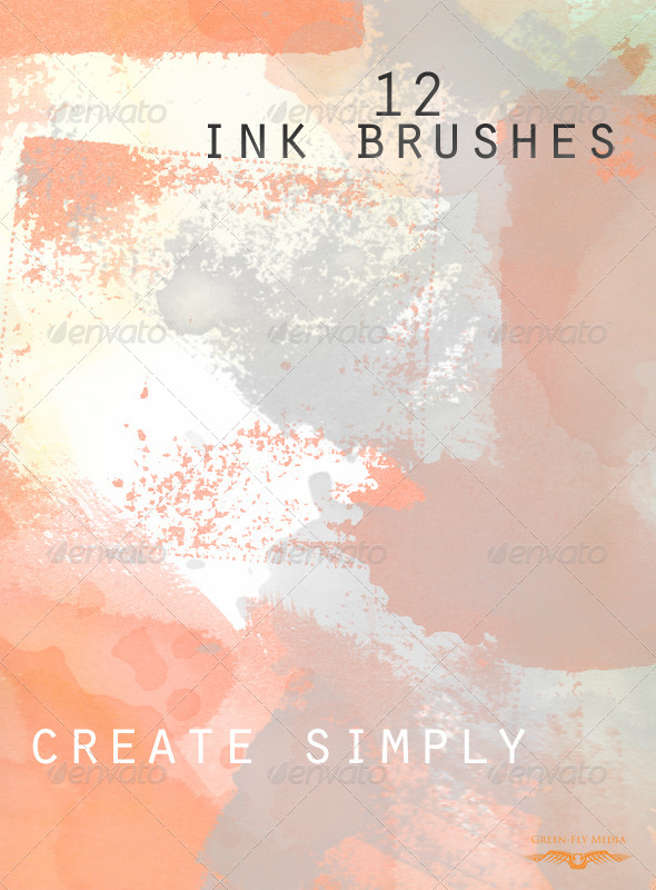 GraphicRiver Twelve Ink Brushes 5085839